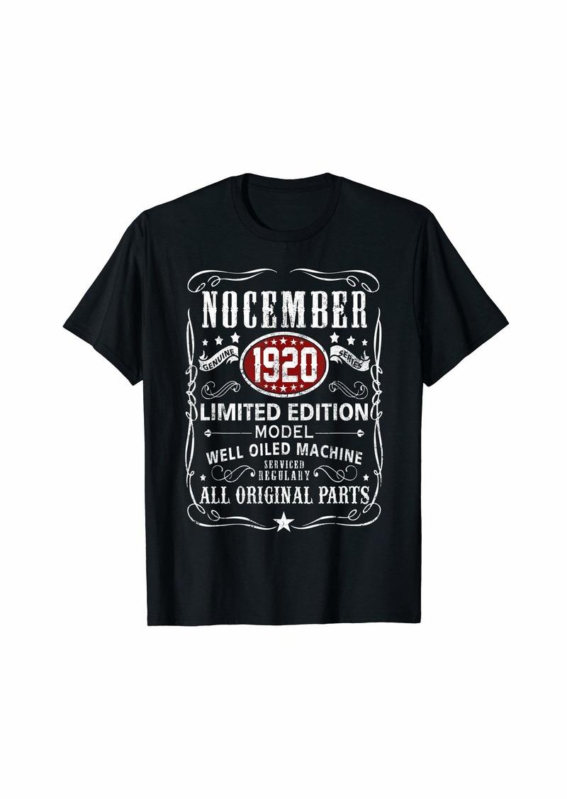 Legends Were Born In November 1920 T-Shirt 99th Bday Gift T-Shirt