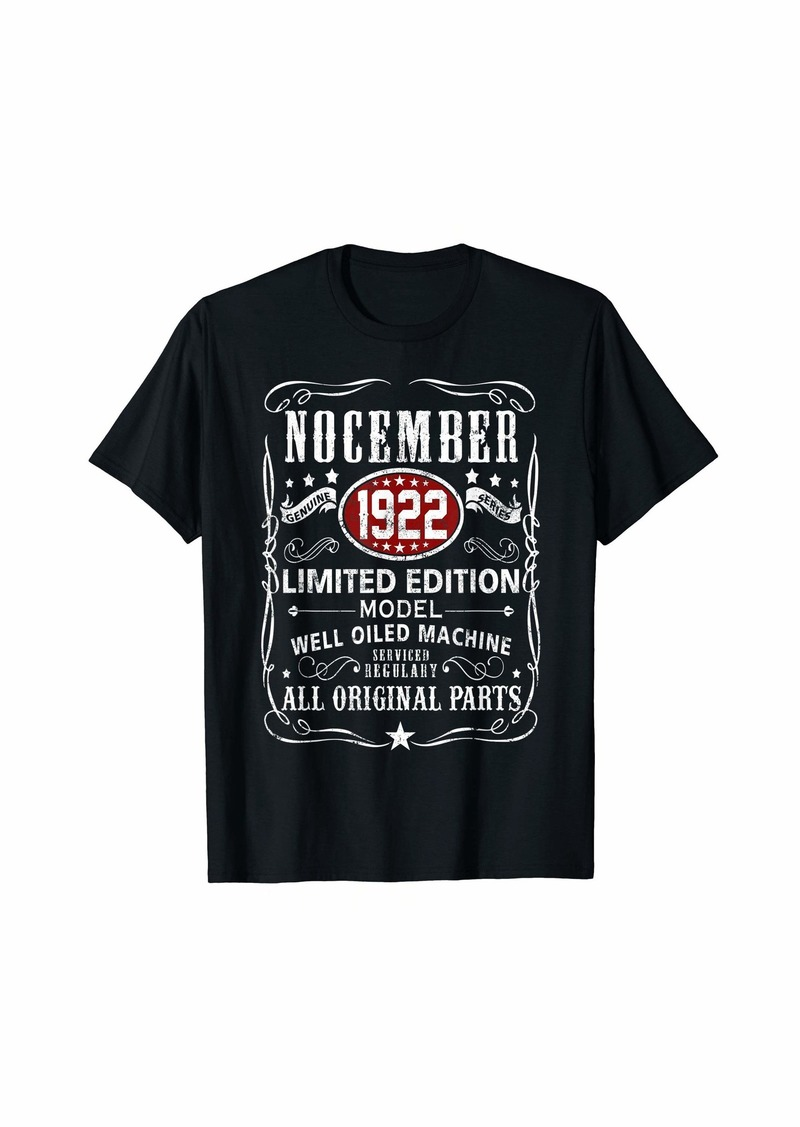 Legends Were Born In November 1922 T-Shirt 97th Bday Gift T-Shirt
