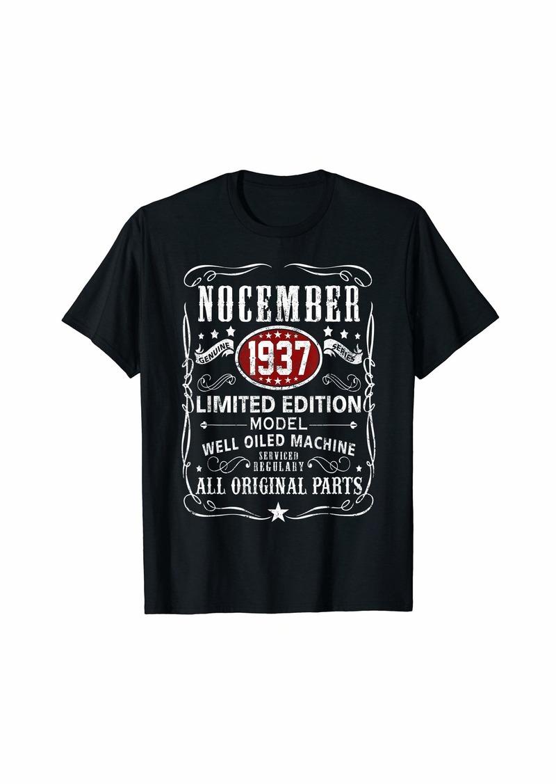 Legends Were Born In November 1937 T-Shirt 82nd Bday Gift T-Shirt