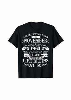 Legends Were Born In November 1963 Shirt 56th Birthday Gift T-Shirt