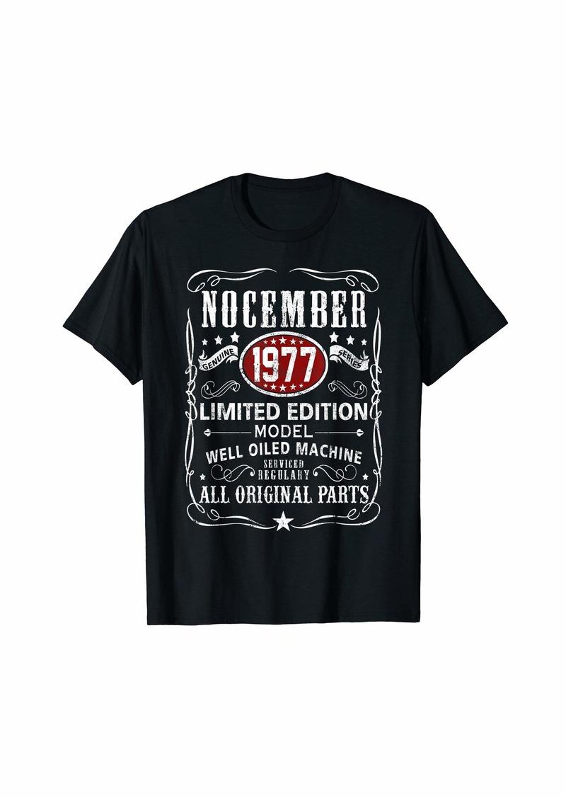 Legends Were Born In November 1977 T-Shirt 42nd Bday Gift T-Shirt