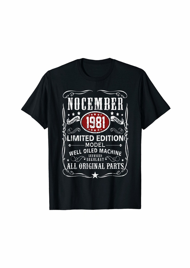 Legends Were Born In November 1981 T-Shirt 38th Bday Gift T-Shirt