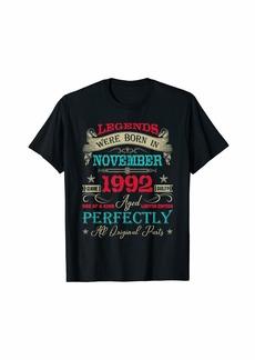 Legends Were Born In November 1992 27th Birthday T-Shirt