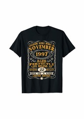 Legends Were Born In November 1997 22Th Birthday Gifts T-Sh T-Shirt