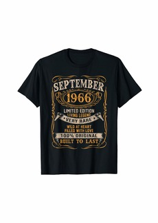 Legends Were Born In September 1966 53rd Birthday Gift T-Shirt