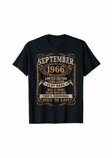 Legends Were Born In September 1966 53rd Birthday Gift T-Shirt