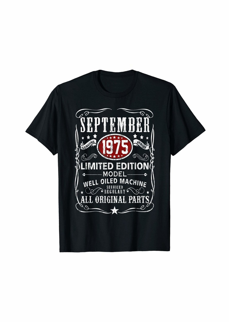 Legends Were Born In September 1975 T-Shirt 44th Bay Gifts T-Shirt