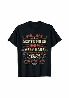 Legends Were Born In September 1994 25th Birthday Gift T-Shirt