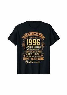 Legends Were Born In September 1996 23rd Birthday Gift T-Shirt