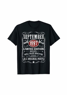 Legends Were Born In September 1997 T-Shirt 22nd Bay Gifts T-Shirt