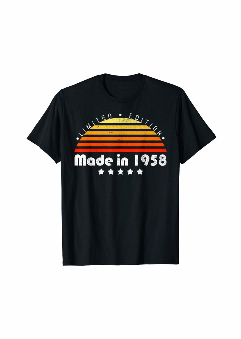 Born Made In 1958 Vintage 61st Birthday Limited Edition T-Shirt