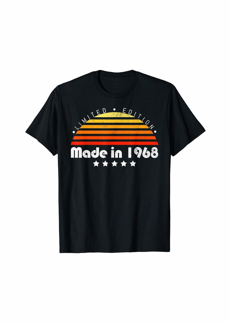 Born Made In 1968 Vintage 51st Birthday Limited Edition T-Shirt