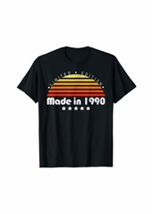 Born Made In 1990 Vintage 29th Birthday Limited Edition T-Shirt