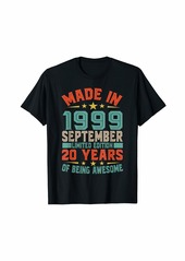 Born Made In September 1999 Bday Gifts 20th Birthday T-Shirt
