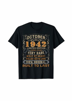 Born October 1942 Shirt 77 Yrs Old 77th Bday Gift Him Her T-Shirt