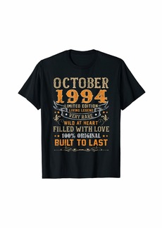 Born October 1994  Shirt 25 Yrs Old 25th Bday Gift For Him Her T-Shirt