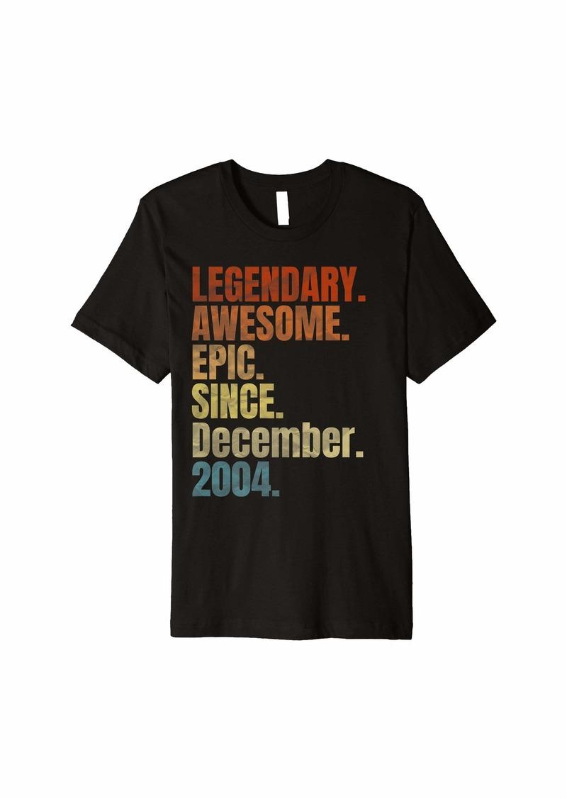 Born Retro Legendary Since December 2004 T Shirt 15 Years Old Premium T-Shirt