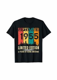 Born September 1955 T Shirt 64 Years Old 64th Birthday Gift T-Shirt