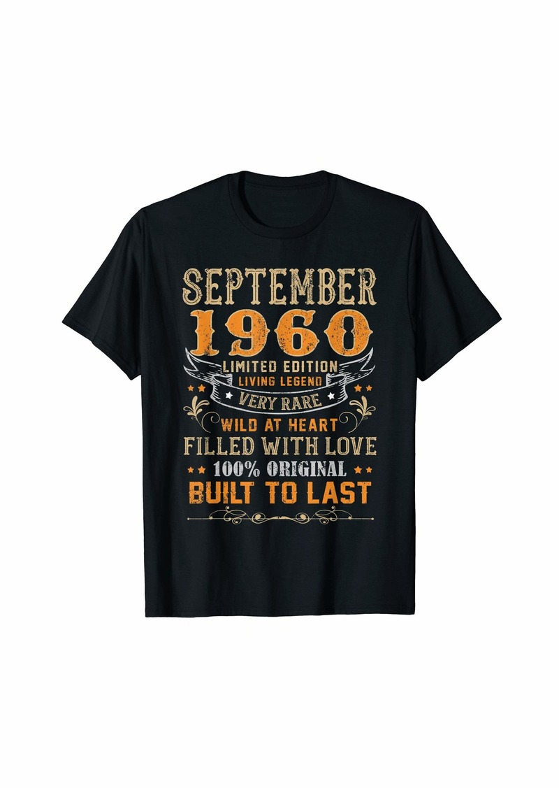 Born September 1960 Shirt 59 Yrs Old 59th Bday Gift For Him Her T-Shirt
