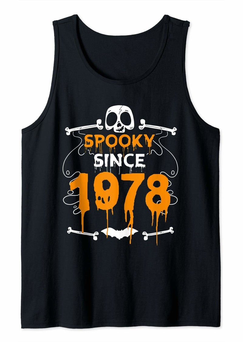 Born Spooky Since 1978 Halloween Bday Gifts 41st Birthday Tank Top