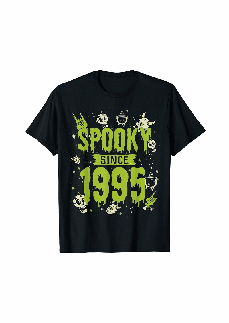 Born Spooky Since 1995 Halloween Bday Gifts 24th Birthday T-Shirt