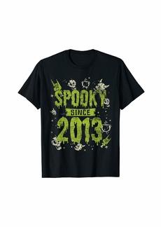 Born Spooky Since 2013 Halloween Bday Gifts 6th Birthday T-Shirt
