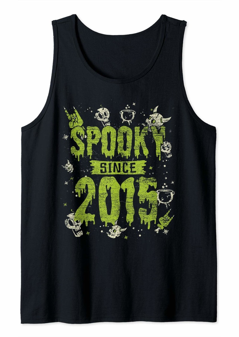 Born Spooky Since 2015 Halloween Bday Gifts 4th Birthday Tank Top