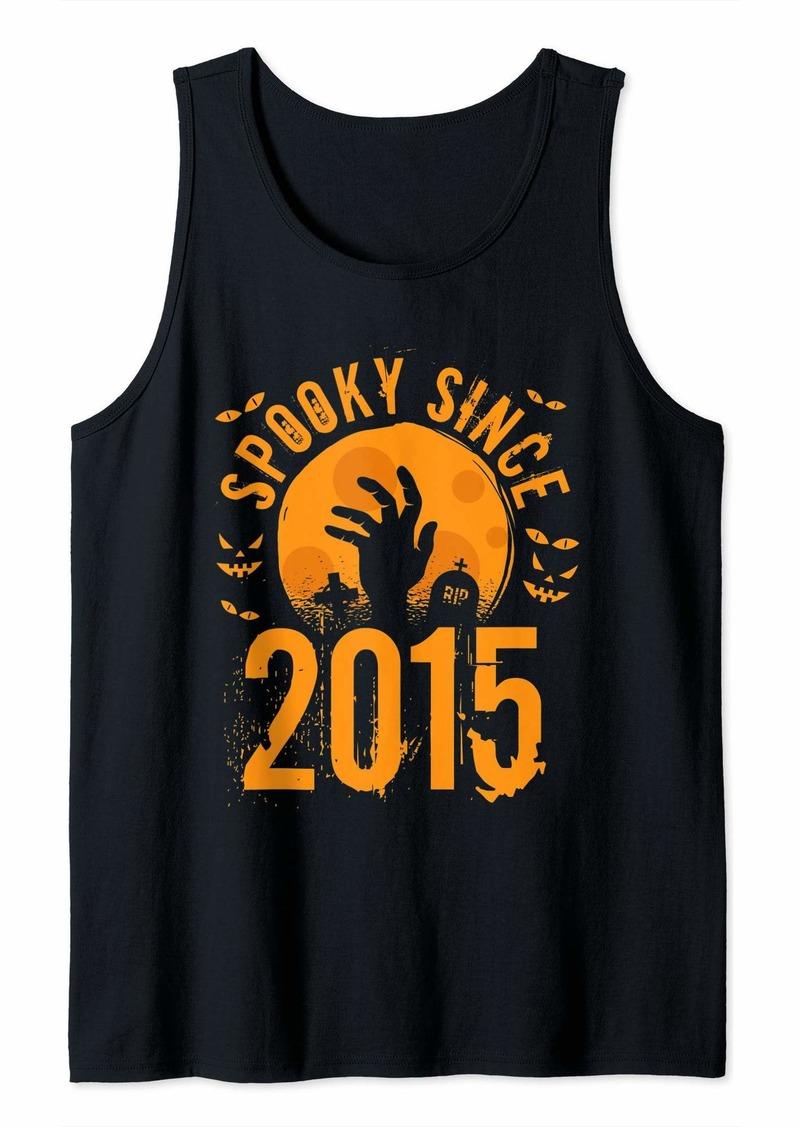 Born Spooky Since 2015 Halloween Bday Gifts 4th Birthday Tank Top