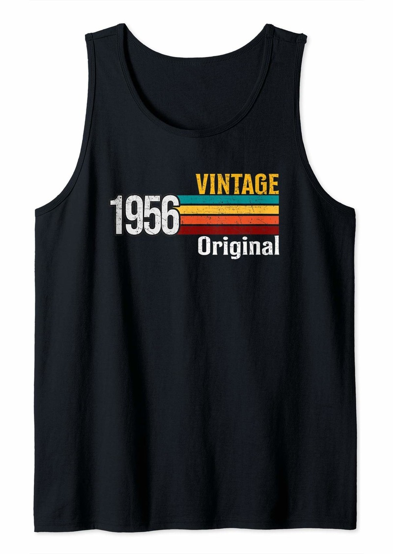 Vintage 1956 Born in 1956 Retro 63rd Birthday Gift Tank Top