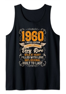 Born Vintage 1960 Limited Edition 61 Years Old 61st Birthday Tank Top