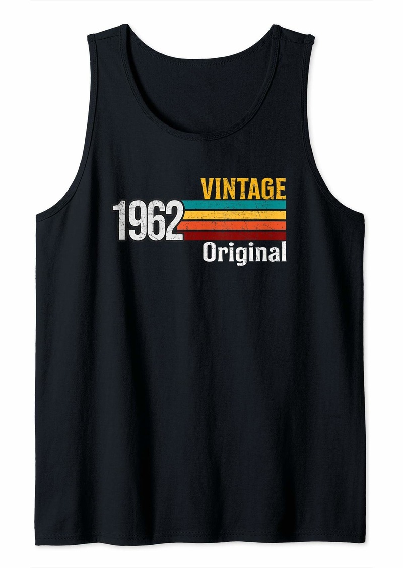 Vintage 1962 Born in 1962 Retro 57th Birthday Gift Tank Top