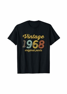 Born Vintage 1968 Original Parts Birthday Italic T-Shirt