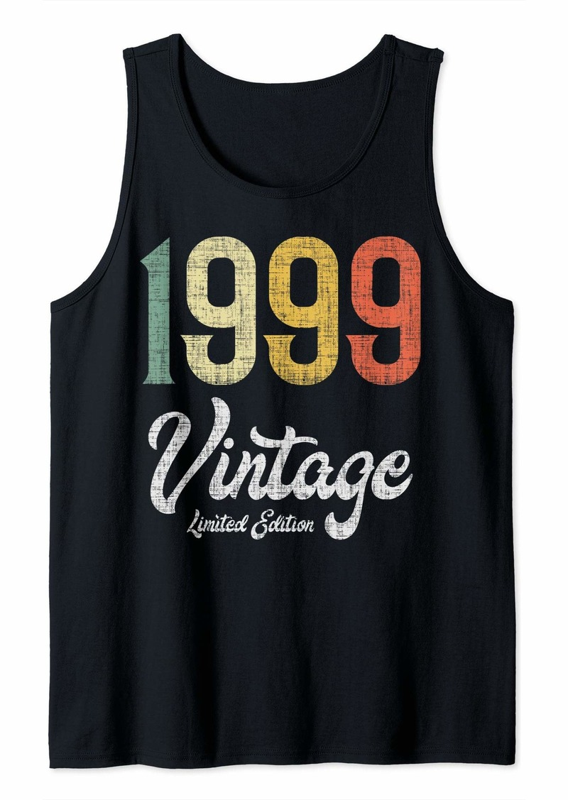 Born Vintage 1999 Limited Edition Birthday Tank Top