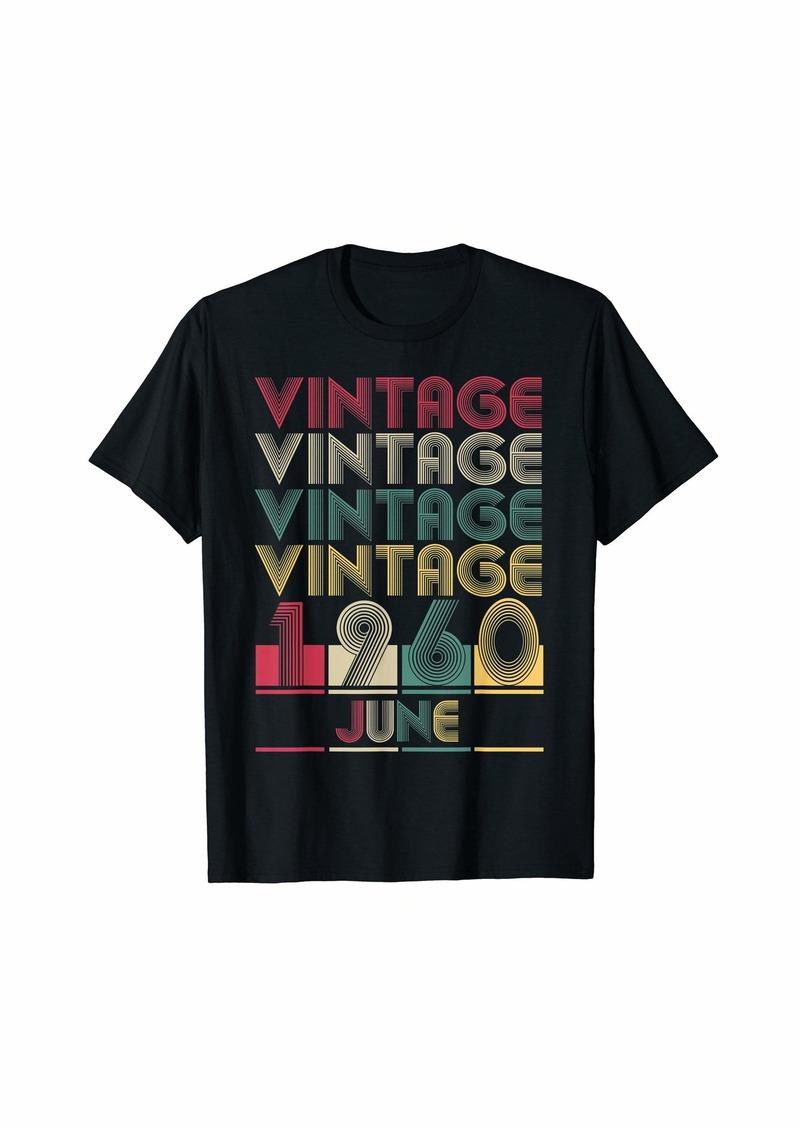 Born Vintage June 1960 Retro Style Birthday Gift Men Women T-Shirt