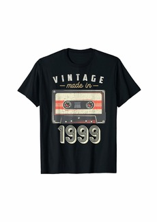 Born Vintage made in 1999 20 years old 20th Birthday Cassette T-Shirt