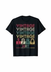 Born Vintage May 1980 Retro Style Birthday Gift Men Women T-Shirt