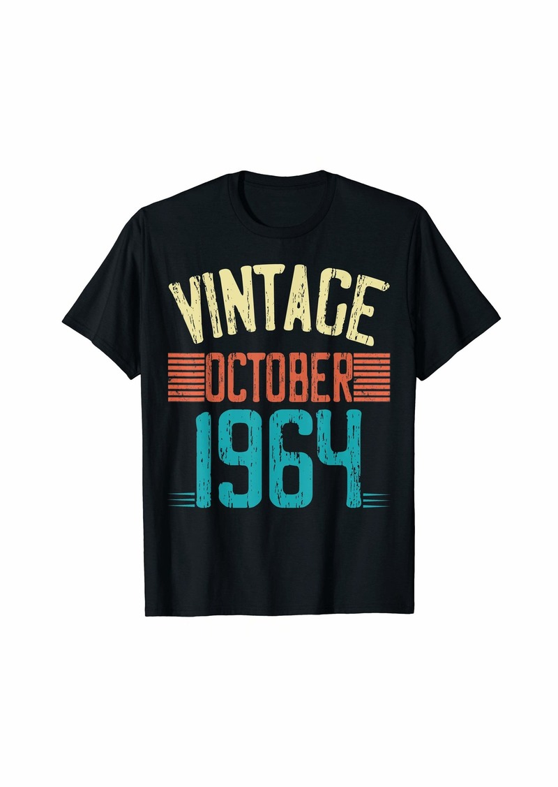 Born Vintage October 1964 55th Birthday Gift 55 Years Old T-Shirt