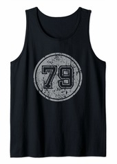 Born Vintage Style 1979 Grunged Gift Design For Celebrations Tank Top