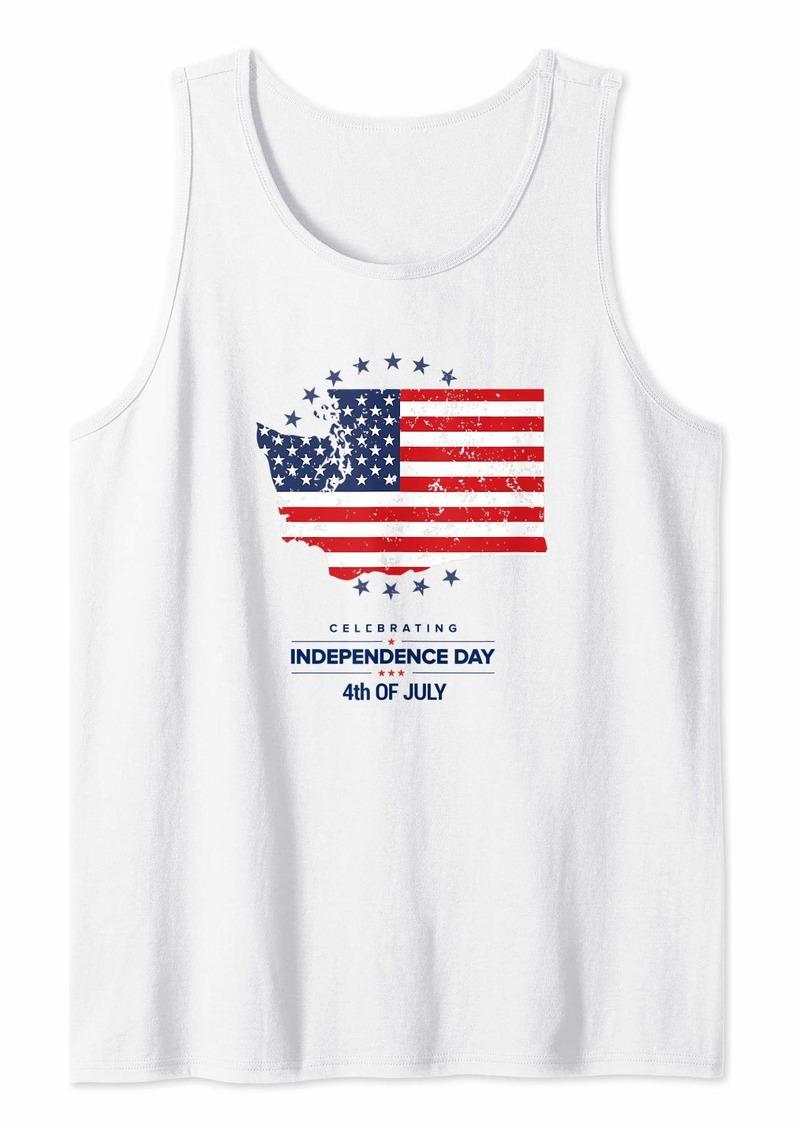 Born Washington 4th of July Shirt Women Men Kids Independence Day Tank Top