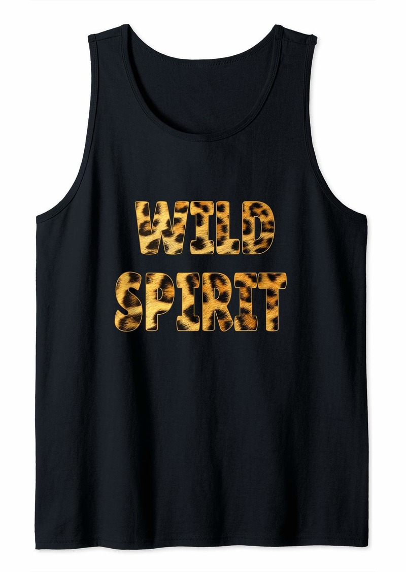 Wild Spirit Cheetah Spots Born Wild Animal Prints Gifts Tank Top