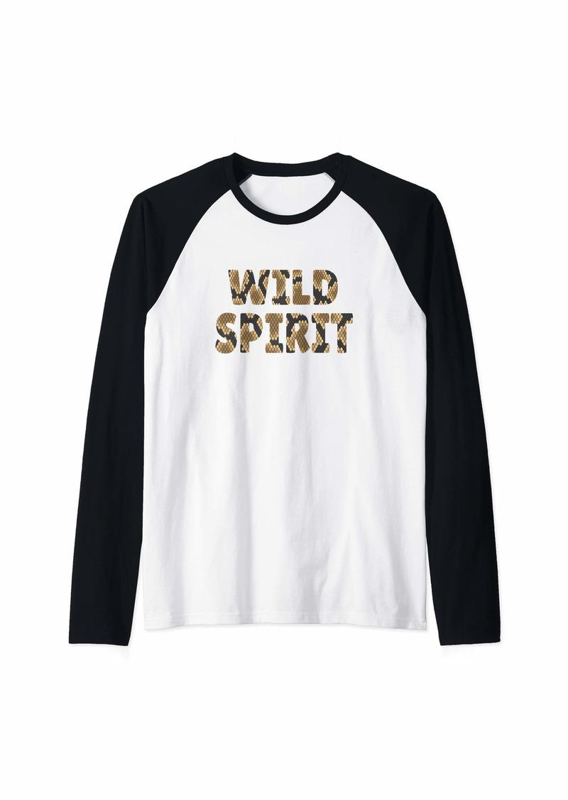 Wild Spirit Snake Print Zoo Animals Reptile Born Wild Gift Raglan Baseball Tee