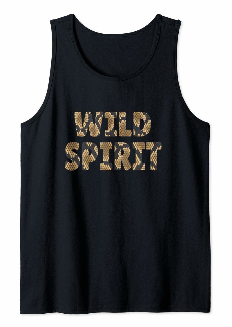 Wild Spirit Snake Print Zoo Animals Reptile Born Wild Gift Tank Top