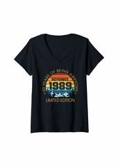 Womens Born In November 1989 Limited Edition - 30 st Birthday Gift V-Neck T-Shirt