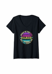 Womens Born In The 80s But 90s Made. I Love 80s Love 90s V-Neck T-Shirt
