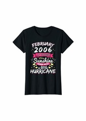 Born Womens FEBRUARY 2006 Girl 14 Years Being Sunshine Mixed Hurricane T-Shirt