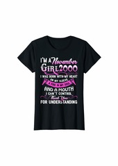 Born Womens I'm A November Girls 2000 19thBirthday Gifts 19 Years Old T-Shirt