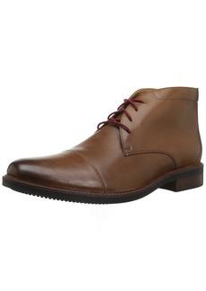 Bostonian Men's Maxton Mid Chukka Boot dark tan leather 075 M US
