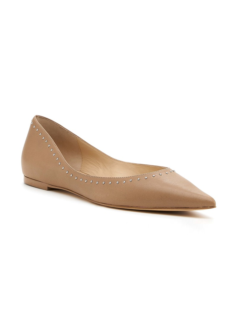 Botkier Aubrey Studded Pointed Toe Flat (Women)