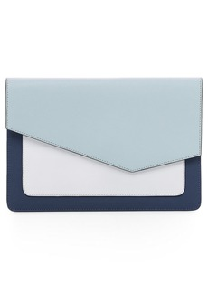 Botkier Cobble Hill Colorblock Leather Flap Clutch