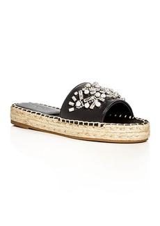 Botkier Jin Embellished Espadrille Slide Sandals